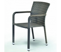 Плетёный стул из искусственного ротанга (А-2001G)(AM)