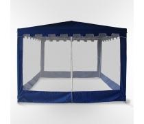 Садовый шатер с москитной сеткой-3x3m (WS-G05/B Blue)(AM)