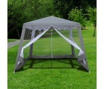Садовый тент шатер с москитной сеткой 3x3x2.4m. (AFM-1036NB Grey)(AM)