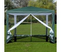 Садовый тент шатер с москитной сеткой 3x3m. (AFM-1040NA Green)(AM)