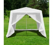 Садовый шатер с москитной сеткой 3x3x2.4m. (AFM-1035NC White)(AM)