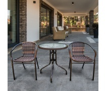 Комплект мебели для балкона Асоль-1B (TLH-037B/087B)(AM)
