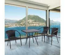 Комплект мебели для кафе 3+1 (T282B/Y137C)(AM)