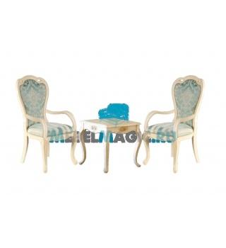 Столик чайный Милано 8801 квадратный + 2 кресла 528