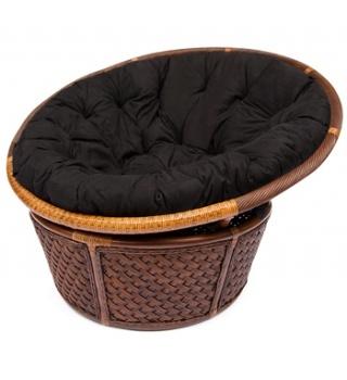 Плетеное Кресло Andrea Андреа из ротанга с черным матрасом