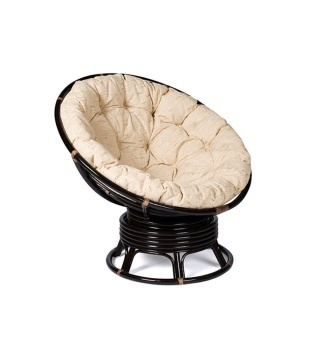 Плетеное кресло-качалка из ротанга Папасан 23/01B с матрацем