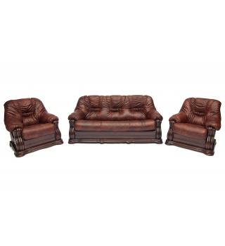 Трехместный кожаный диван GOLZMAYER
