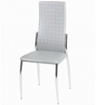 Современный стул  2368 серебро плетеный