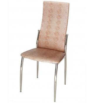Стильный стул 2368 А5 бежевый под крокодиловую кожу