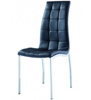 Черный стул 365 на металлическом каркасе