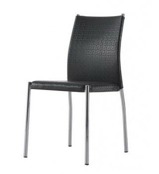 Современный стул на металлическом каркасе 4159 черный