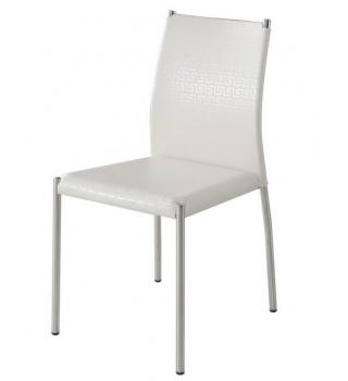 Современный стул на металлическом каркасе 4159 белый