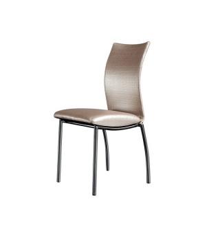 Современный стул на металлическом каркасе 8040 бежевый