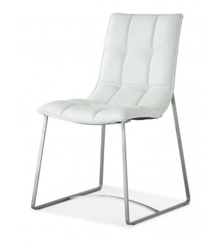 Современный стул на металлическом каркасе BZ500S белый