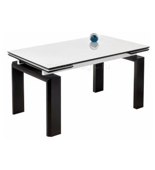 Стеклянный стол Давос белый / венге