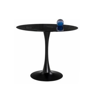 Стеклянный стол Tulip 90 black