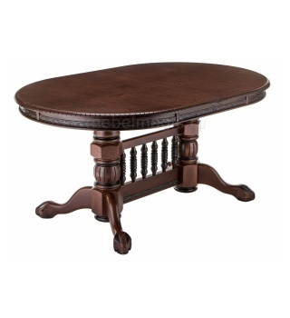 Деревянный стол Кантри орех с коричневой патиной