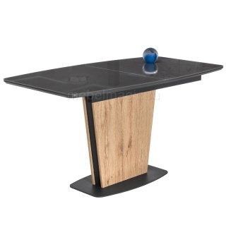 Стол на тумбе Оливер дуб антор натуральный / графит