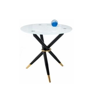 Стеклянный стол Rock white / black