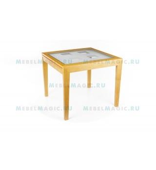 Стеклянный стол Verona 90 светлый