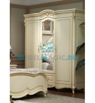 Шкаф трехдверный с зеркалом Милано 8803