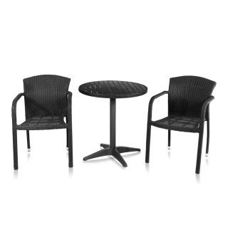 Комплект мебели для кафе из искусственного ротанга Milano-2