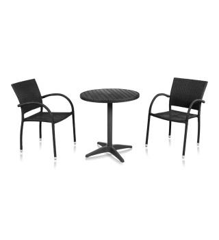 Комплект мебели для кафе из искусственного ротанга Siena-1