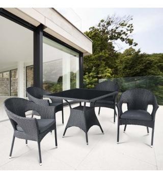 Комплект мебели из искусственного ротанга Avanti Black
