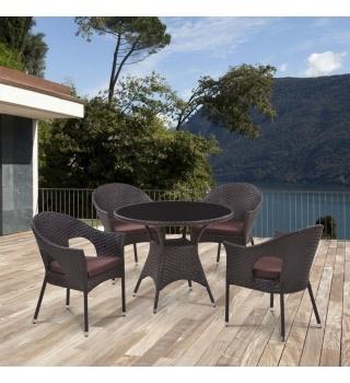 Комплект мебели из искусственного ротанга Abcent brown