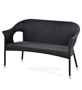 Плетёный диван из искусственного ротанга