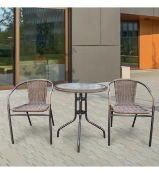 Комплект мебели из искусственного ротанга для балкона Асоль-1А