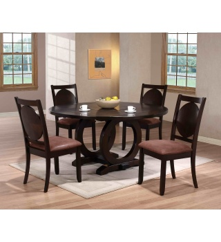 Стол обеденный, раскладной, круглый ORDT-D6060-SPR орех