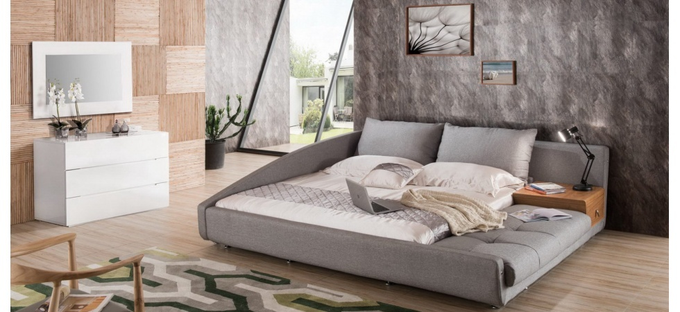 Новинка, оригинальная кровать  из рогожки.